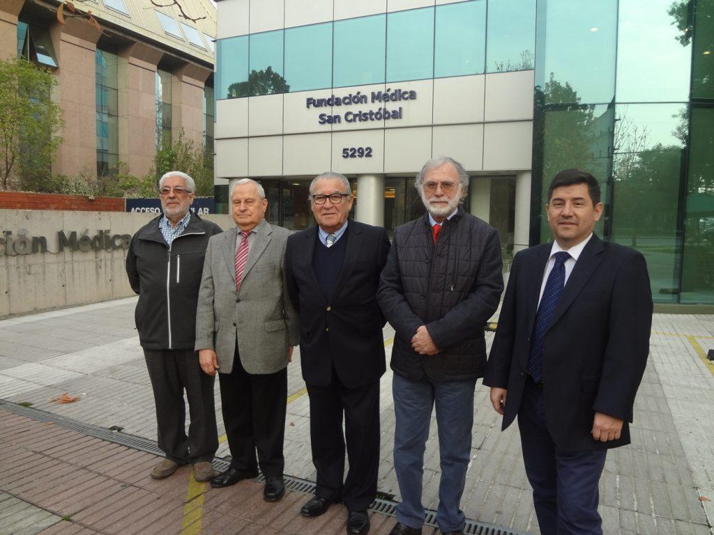 En orden de izquierda a derecha: Luis Mellafe, René Portmann, Pedro Cofré, Eugenio Galilea y Cristian Matus.